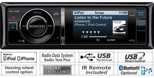Kenwood KIV-700 Usb/iPod Ohjelmalähde-0