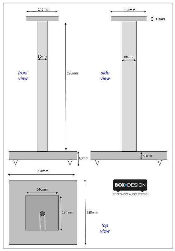 Pro-Ject 70cm Speaker Stand-13253
