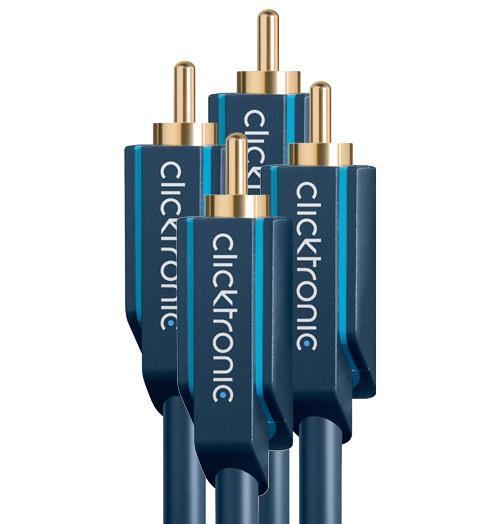Clicktronic Stereo RCA Kaapeli-0
