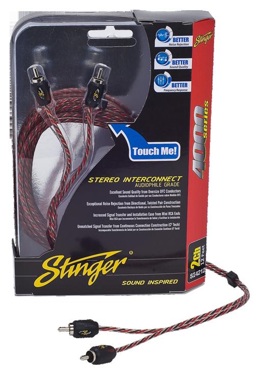 Stinger S4000 Rca Stereokaapeli-0