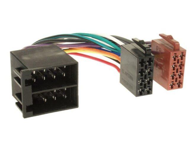 Radiojohto ISO Opel > ISO plug clamp 15/30 twisted-0