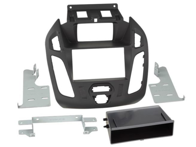 2-DIN facia kotelolla Ford Transit Connect 2013 > black-0