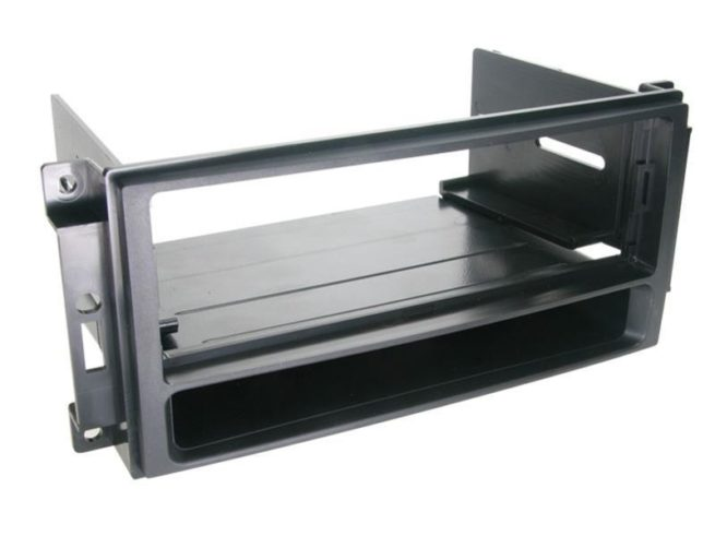 1-DIN Soitinkehys kotelolla Chrysler / Dodge / Jeep black-0