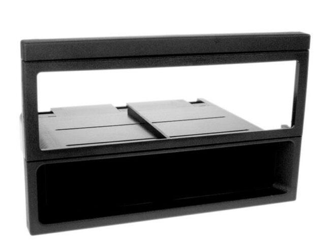 1-DIN Soitinkehys kotelolla Mazda MX-5 / 323 / 626 black-0