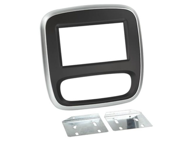 2-DIN Soitinkehys Renault Trafic/Opel Vivaro 14>black/silver-0