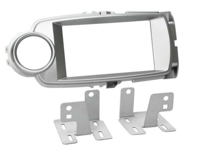 2-DIN Soitinkehys Toyota Yaris 10/2011 -> silver-0