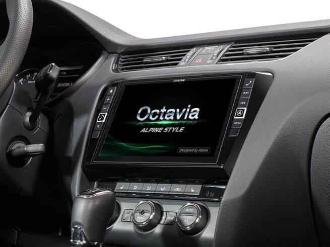 """Alpine Škoda Octavia mk3 9"""" Navimultisoitin-0"""
