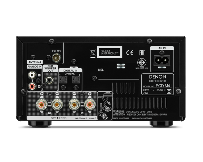 Denon RCD-M41 CD Viritinvahvistin Bluetooth-17575