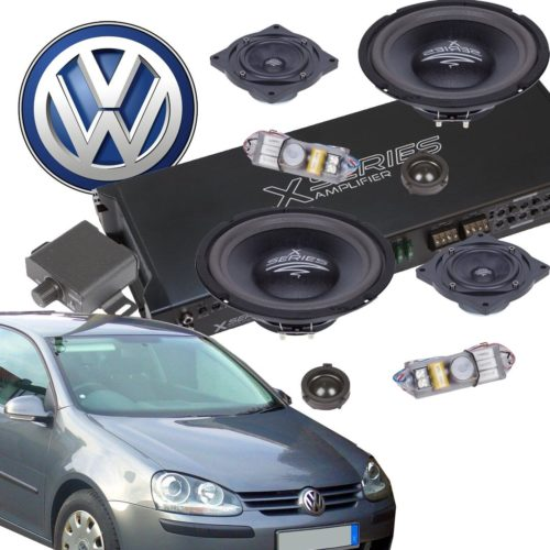 VW Golf V Aktiivikaiutinpaketti, 980 Wattia-0