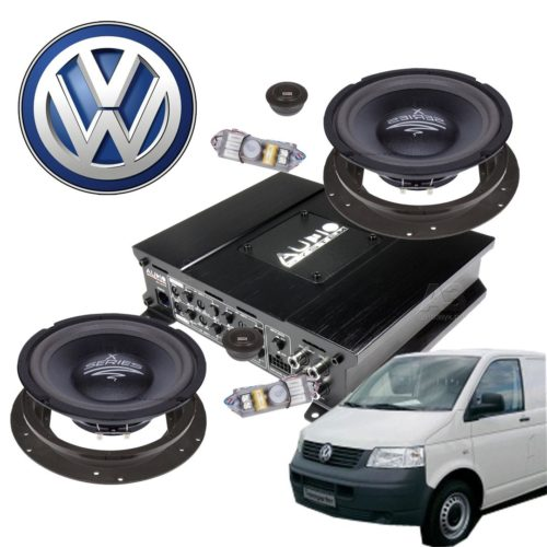 VW T5 Aktiivikaiutinpaketti 600 Wattia-0