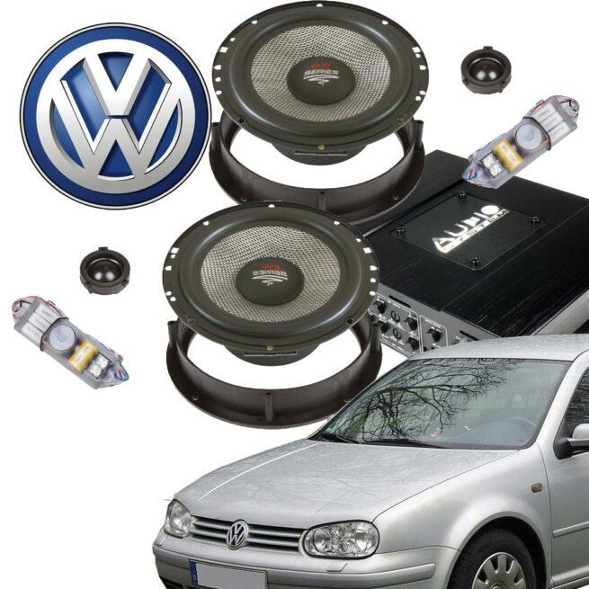 VW Golf IV Aktiivikaiutinpaketti, 600 Wattia-0
