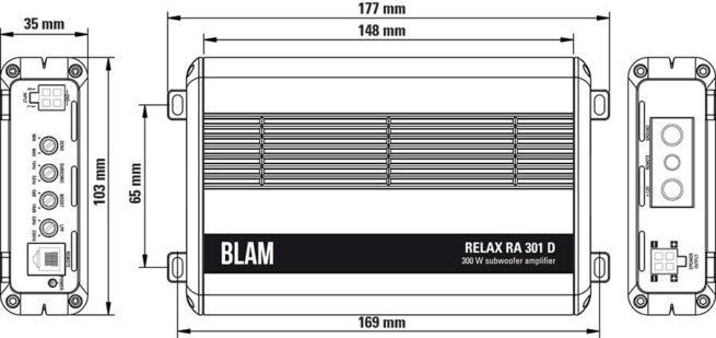 Blam RA 301 D Monovahvistin-17939