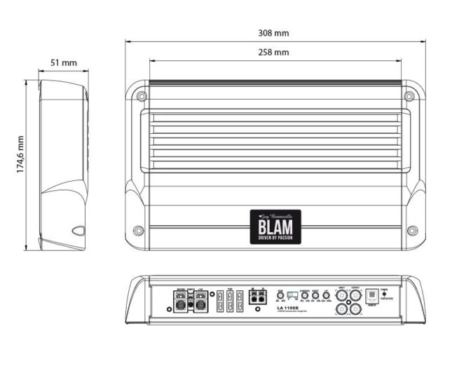 Blam LA 1100D HighEnd Monovahvistin-17945