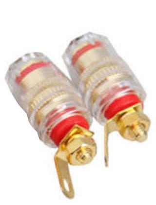 R-Audio BT-1r Akryylinen läpiterminaali Punainen-0