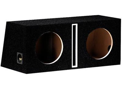 "R-Audio 2 x 10"" RA-2x250MM/RF Refleksitunnelikotelo MDF Musta-0"