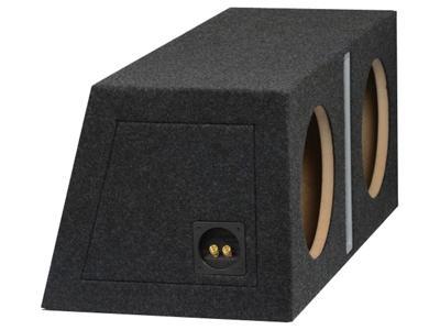 "R-Audio 2 x 10"" RA-2x250MM/RF Refleksitunnelikotelo MDF Musta-19339"