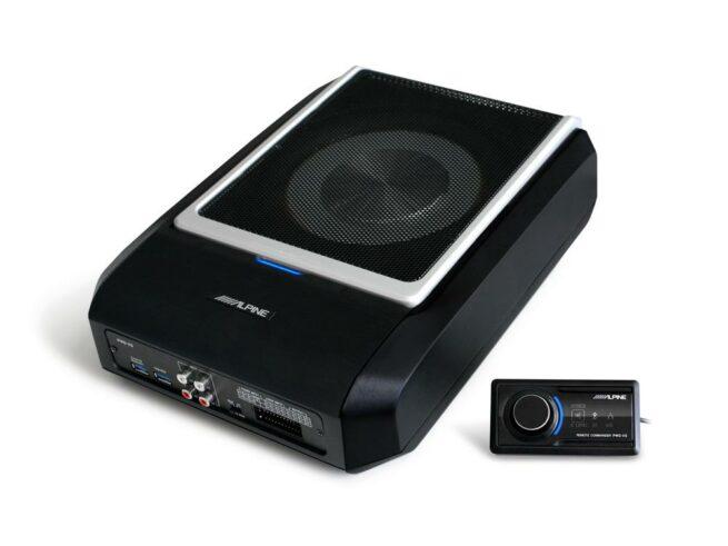 Alpine PWD-X5 4-Kanava DSP vahvistin & Litteä aktiivisubbari Bluetooth-20705