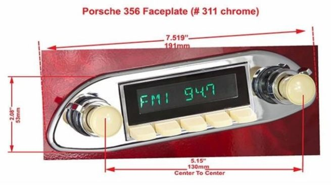 "Retrosound etupaneli, ""Porsche 356"" 2 eri väriä-21502"