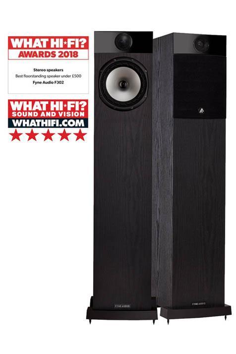 5 Tähden HiFi Lattiakaiutinpaketti Fyne Audio + Denon-21534
