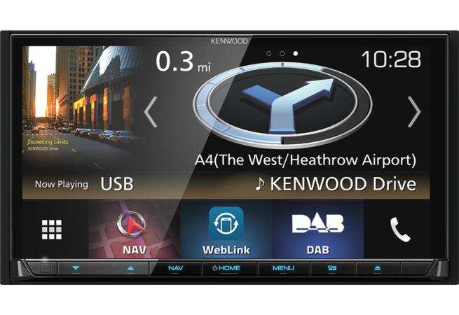 """Kenwood DNX8180DABS 7"""" CD/DVD AV Navigaatiojärjestelmä-22168"""