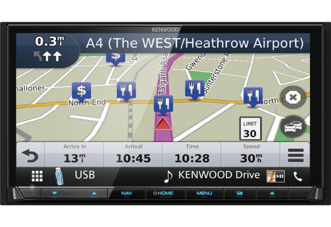 """Kenwood DNX8180DABS 7"""" CD/DVD AV Navigaatiojärjestelmä-0"""