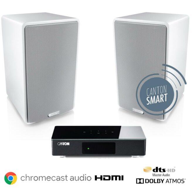Canton Smart 2.0 Aktiivikaiutinpaketti Chromecast HDMI-0