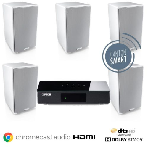 Canton Smart 5.0 Aktiivikaiutinpaketti Chromecast HDMI-0