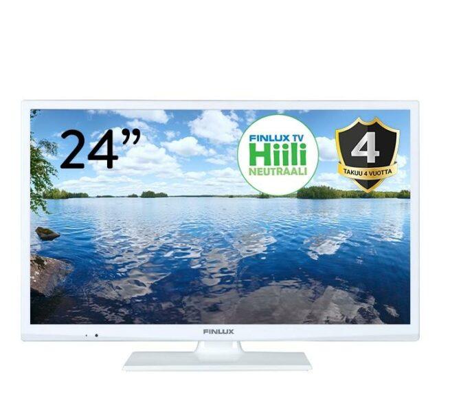 """FINLUX 24-FWMA-4210 24"""" VALKOINEN LED-TELEVISIO 12V.-23061"""
